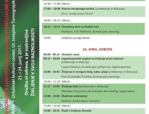 II. Slovenski kongres logoterapije in eksistencialne analize